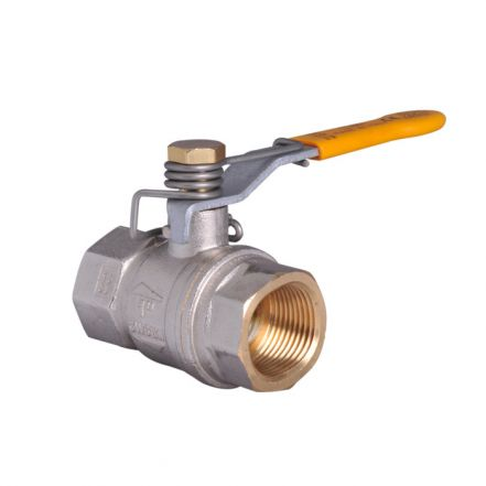 Brass Ball Valve with Spring Close Lever