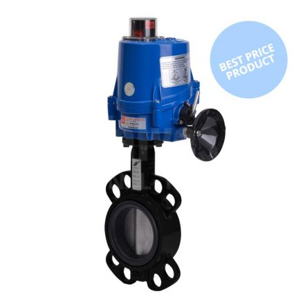 Electric Actuated Economy Wafer Pattern Butterfly Valve