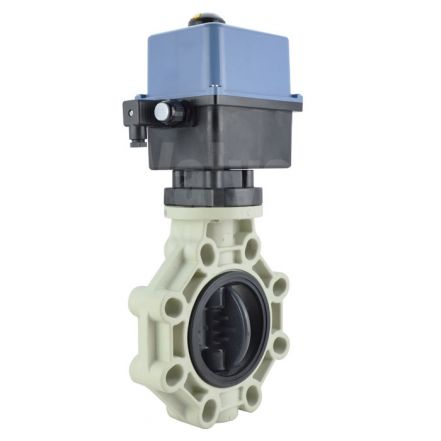 Electric Actuated Industrial PVC Butterfly Valve