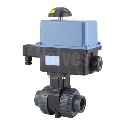 Electric Actuated PVC Ball Valve with Polyamide Actuator