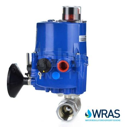 Electric Actuated Screwed 2 Way Brass Ball Valve - WRAS Approved