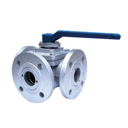 Cast Iron Ball Valve 3 Way Flanged PN16