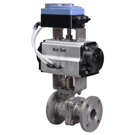 Series 90D PN16 Flanged Pneumatic V Sector Ball Control Valve