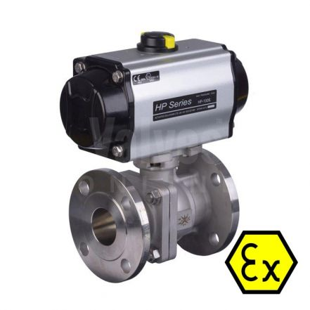 ATEX 90D Pneumatic Actuated PN16 Ball Valve