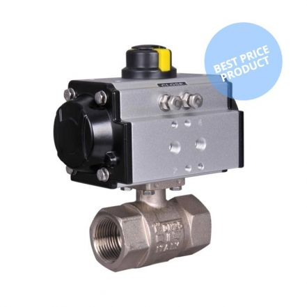 Pneumatic Actuated Economy Screwed 2 Way Brass Ball Valve