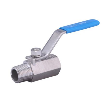 Stainless Steel Ball Valve 1 Piece Reduced Bore Male / Female