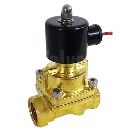 "Brass Solenoid Valve 0.5-12 Bar Rated Steam Servo Assisted 3/8"" - 2"""