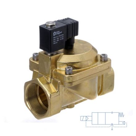"Brass Solenoid Valve Servo Assisted 3/8"" to 3"""