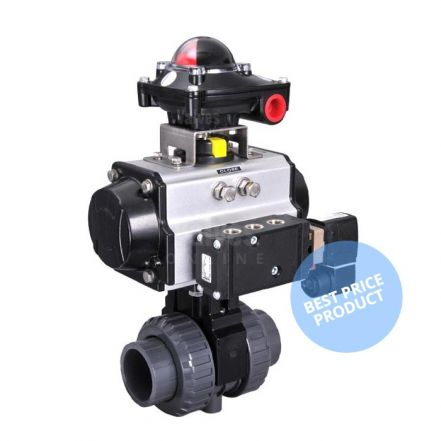 Pneumatic Actuated Economy PVC Ball Valve