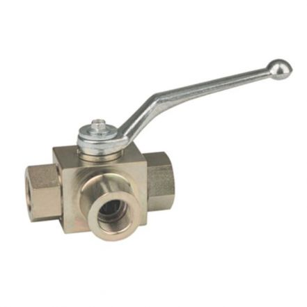 High Pressure Ball Valve 3 Way Hydraulic Carbon Steel L Port BK3