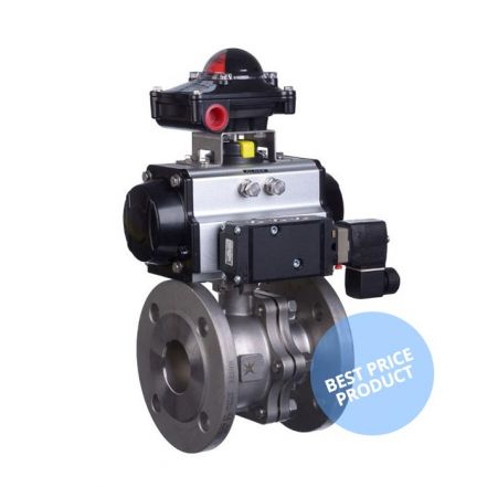 Pneumatic Actuated Economy PN16 Flanged Ball Valve