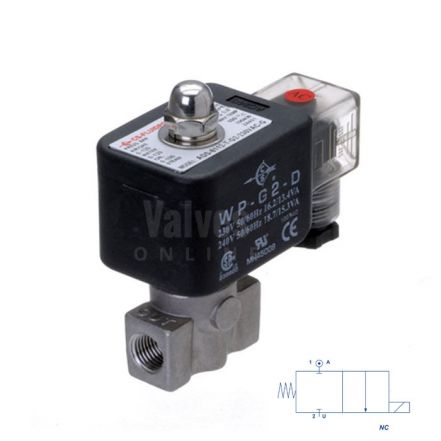 Stainless Steel Solenoid Valve 0-120 Bar Rated High Pressure 1/8""