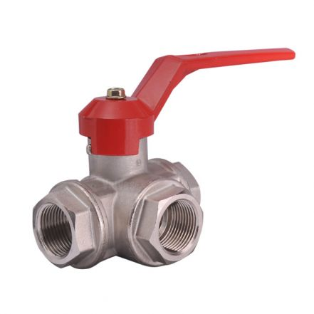 Brass Ball Valve Screwed 3 Way
