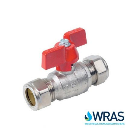 Brass Ball Valve Compression End with Butterfly Handle