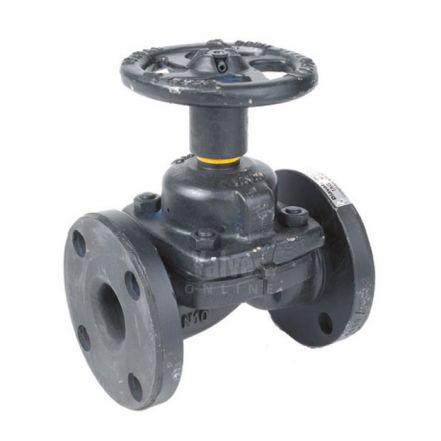 Weir Type Diaphragm Valve Unlined Flanged PN16
