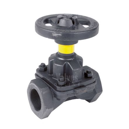 Weir Type Diaphragm Valve Unlined Screwed BSPP