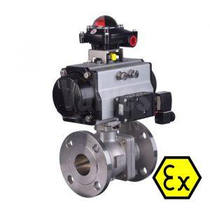 ATEX 90D Pneumatic Actuated PN40 Ball Valve