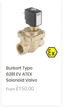 Burkert 6281 ATEX Solenoid Valve