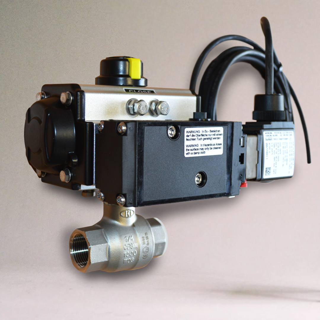 ATEX Pneumatic Actuated ball valve