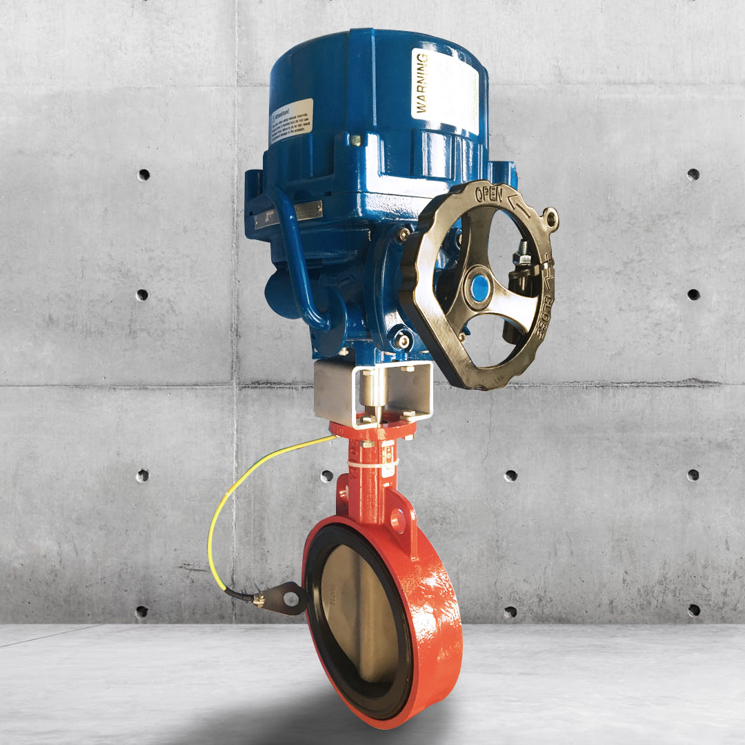 ATEX electric actuated butterfly valve