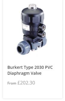 Actuated Plastic Diaphragm Valve