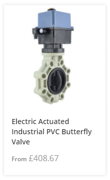 Electric Actuated PVC Butterfly Valve
